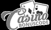casino bonuscode logo in schwarz weiß